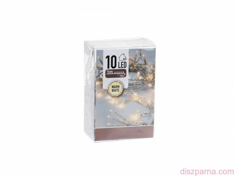 Image of 10 LEDes elemes melegfehér fényfüzér 130 cm