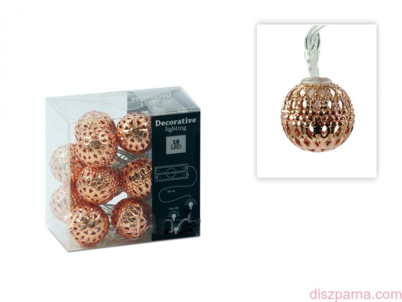 Image of 10 LEDes réz gömb fényfüzér