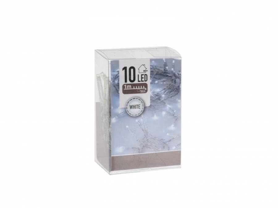 Image of 10 LEDes elemes hidegfehér fényfüzér 130 cm