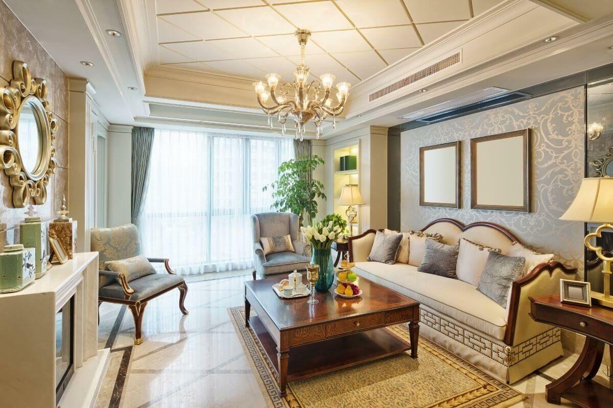 Fényűző, luxus, glamour nappali