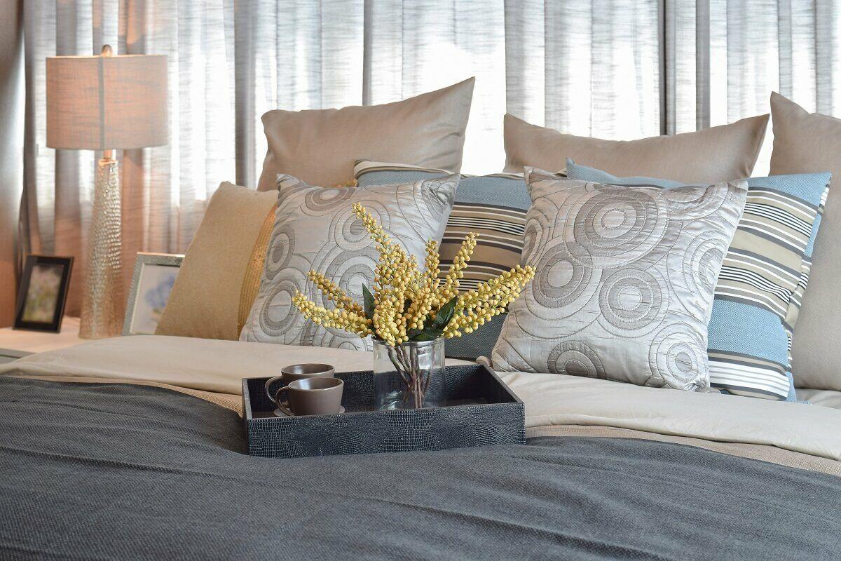 Lakástextilek a hálószobában
