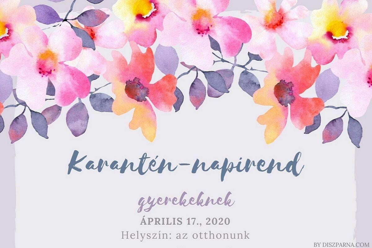 Karantén-napirend blog a díszpárna.com-tól