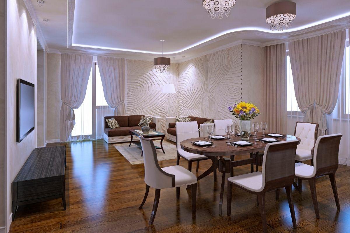 Csodaszép nappali és étkező