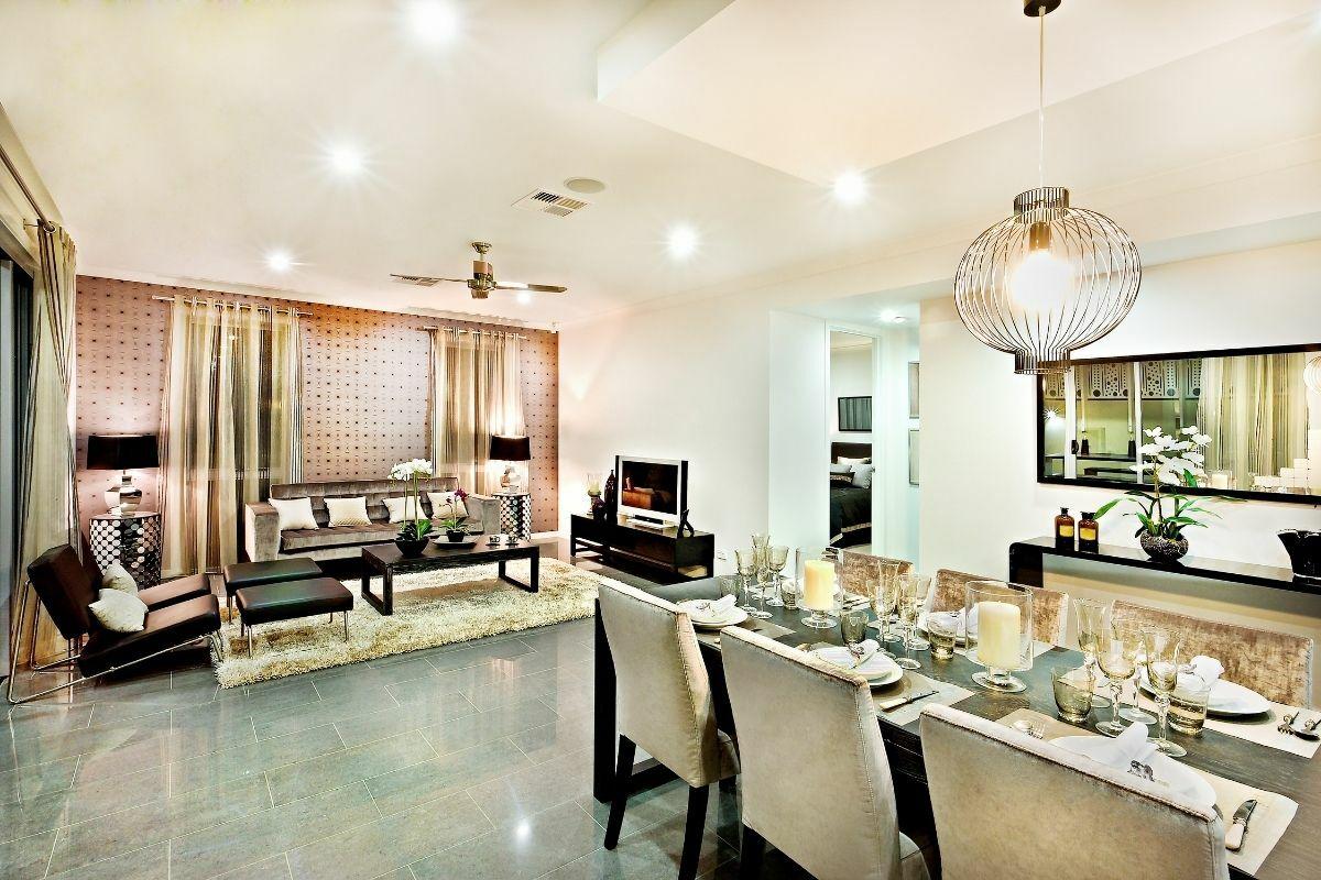 Gyönyörű nappali és étkező