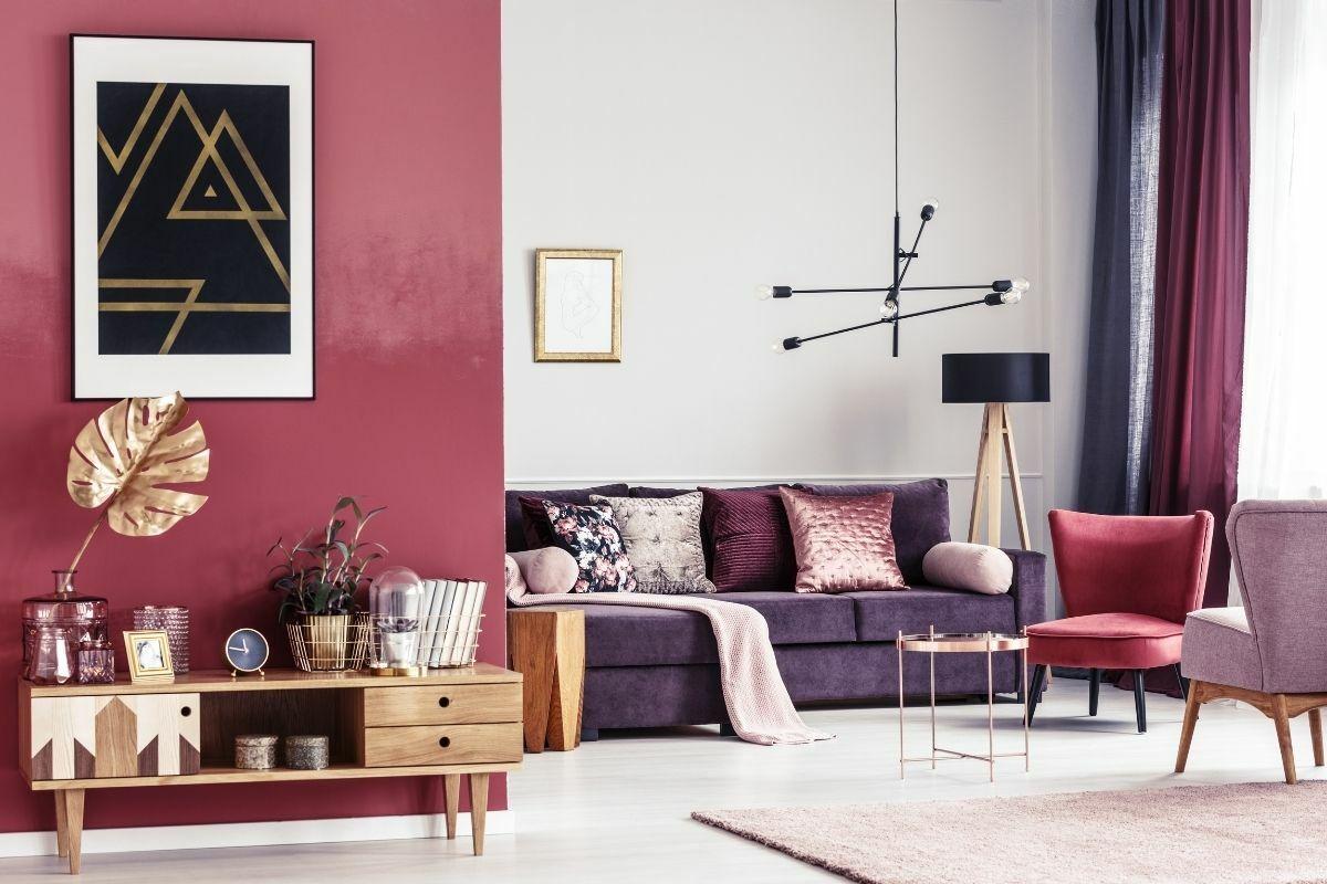 Piros és árnyalatai a lakásban