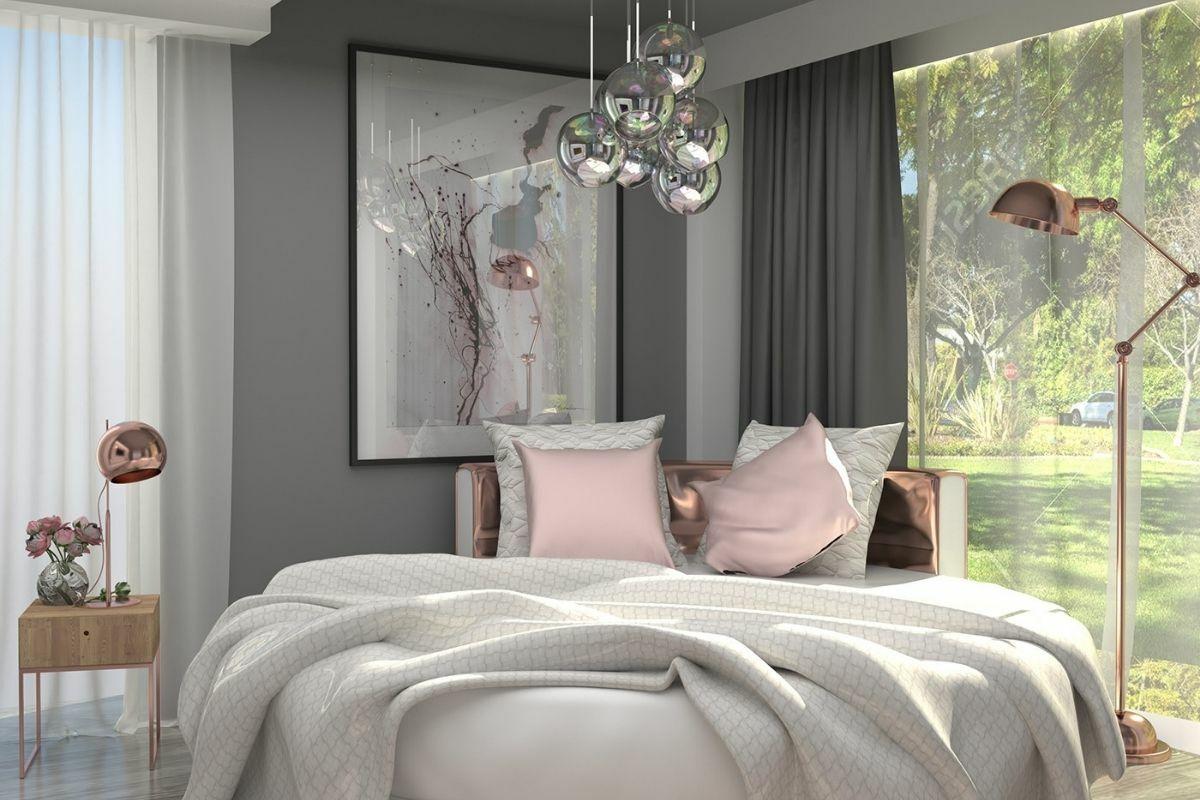 Rose gold stílusú hálószoba
