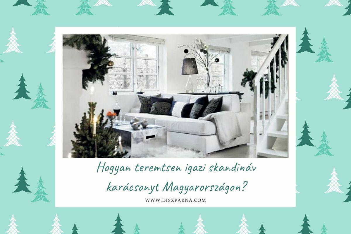Skandináv nappali karácsonykor