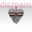 Fonott szív dekoráció csipkével   12 cm