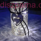 Ledes szíves üveg henger