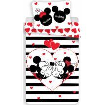 Minnie és Mickey egér Csíkos Love ágynemű