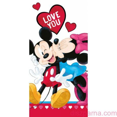 Minnie és Mickey egér Love You  törölköző