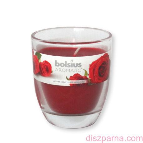 Poharas Bolsius illatmécses rózsa illatú