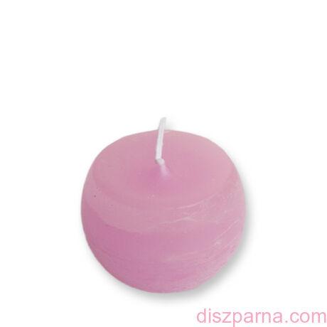 Rusztikus Rózsaszín Gömb gyertya