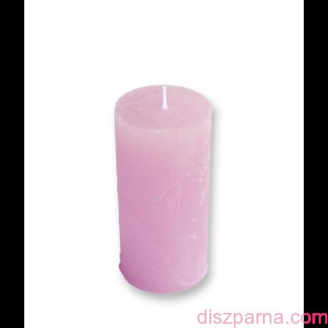 Rusztikus Rózsaszín Henger gyertya