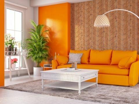 Hogyan használja a narancs szín árnyalatait a lakásban? 7. rész