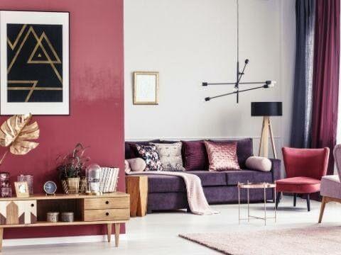 Hogyan használja a színeket a lakberendezésben? 3. rész: Piros és árnyalatai