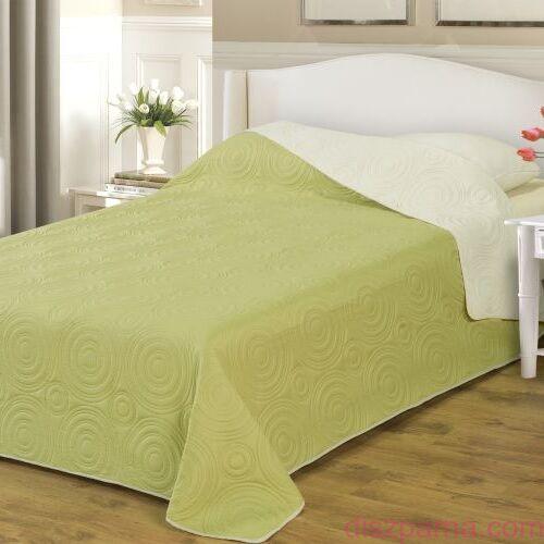 Bézs-Zöld ágytakaró