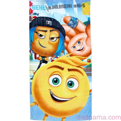 Emoji világoskék törölköző 70x140 cm