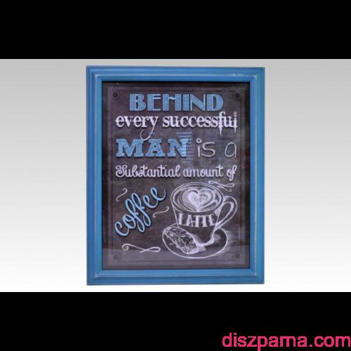 Retro Coffee Kék falikép
