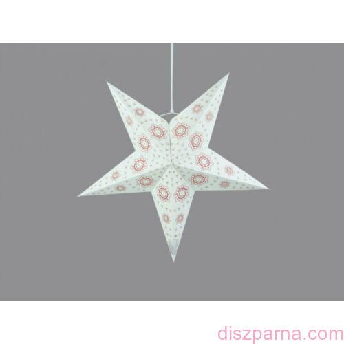 Fehér csillag lampion 60 cm