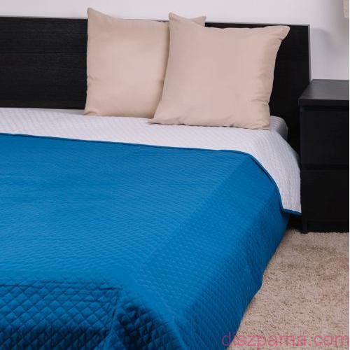 Fehér-Kék kockás ágytakaró