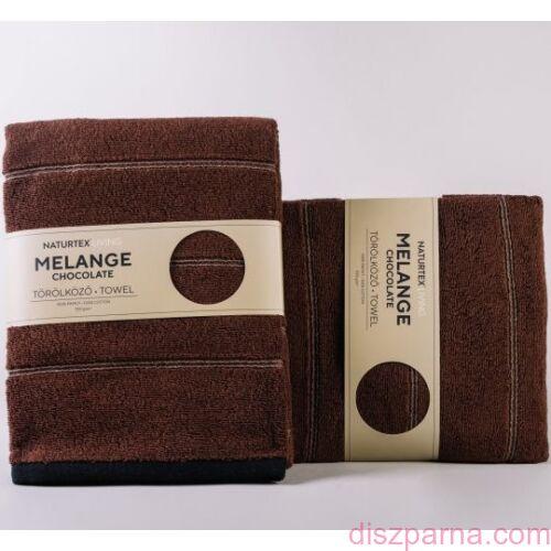 Melange Chocolate frottír törölköző 70x140 cm