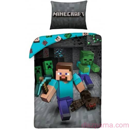Minecraft Szürke ágynemű