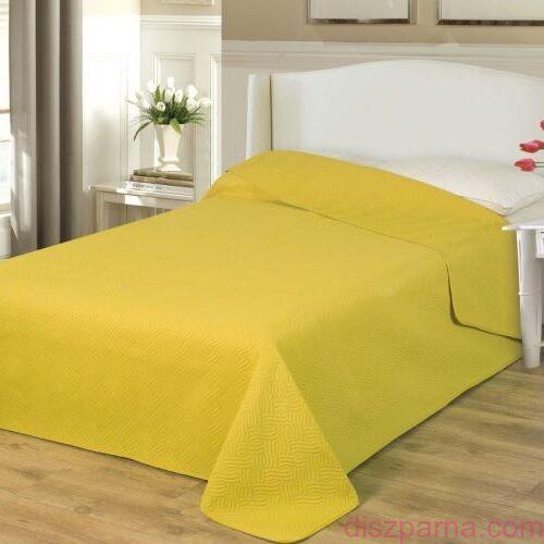 Mustársárga ágytakaró