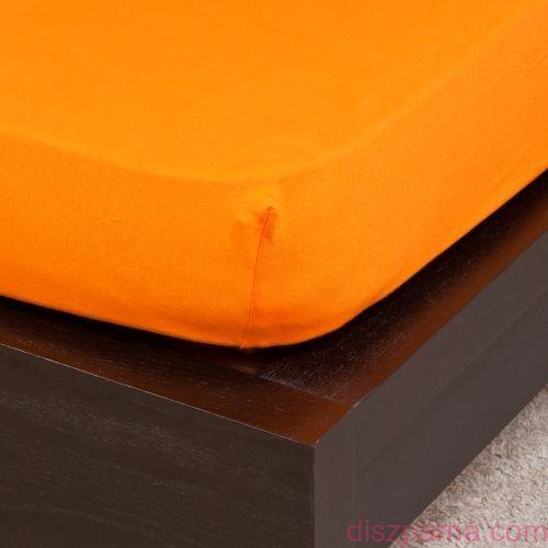 Narancs jersey lepedő 160x200 cm