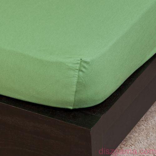 Olivazöld jersey lepedő 160x200 cm