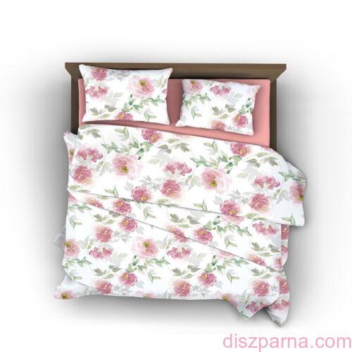 Pink Rose B pamut-szatén ágynemű