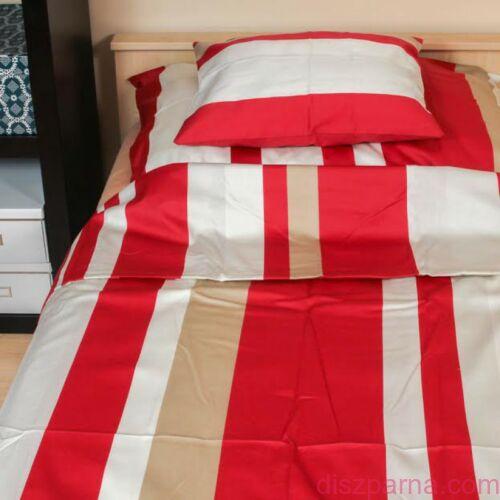 Piros-barna csíkos ágynemű