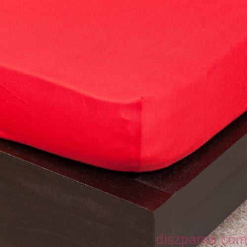 Piros jersey lepedő 200x200 cm