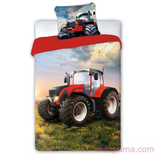 Piros traktoros ágynemű