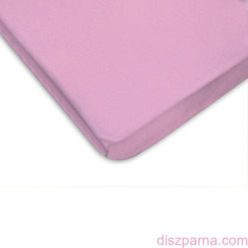 Rózsaszín jersey lepedő 90x200 cm