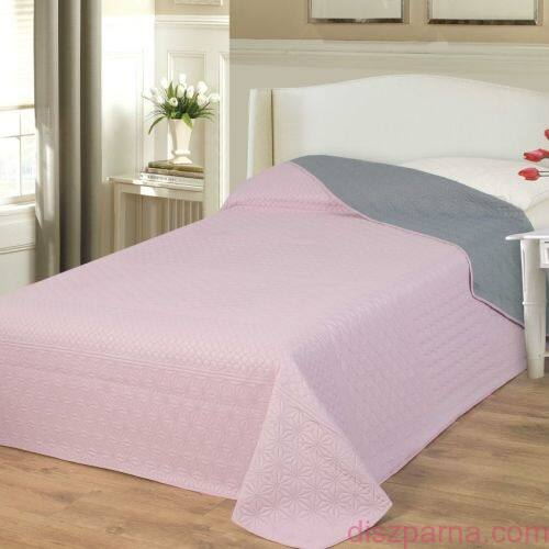 Rózsaszín-Szürke ágytakaró