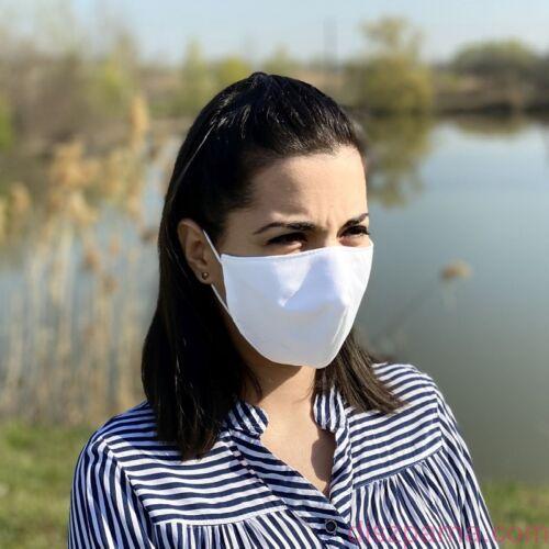 Újrahasználható 3 rétegű Egészségügyi Textil Szájmaszk Orr rész kialakítással