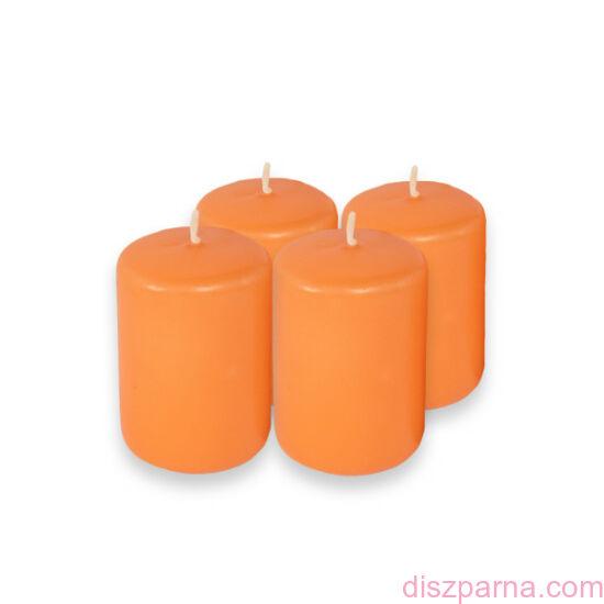 Narancs adventi gyertya  4 db
