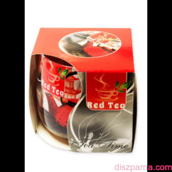 Vörös tea poharas illatmécses