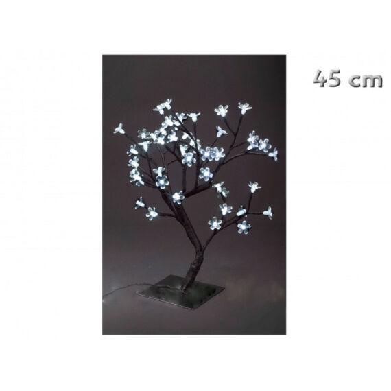 48 ledes natúrfehér világító fa karácsonyi dekoráció