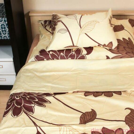 Barna virágos ágynemű