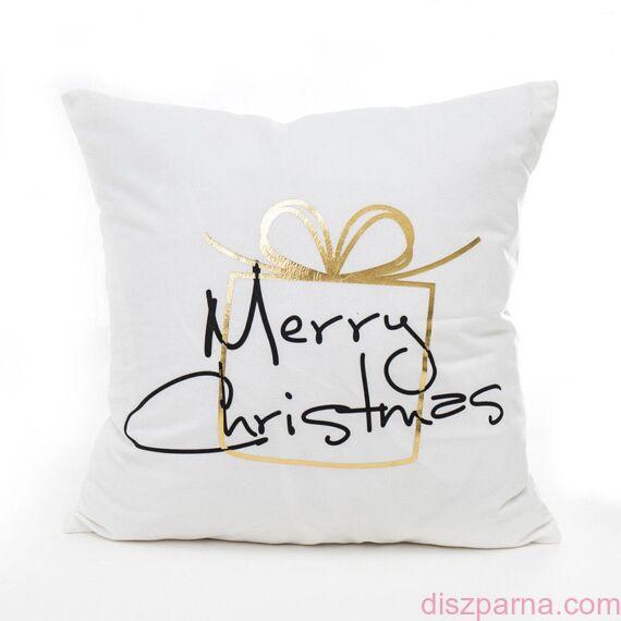 Angel Ajándék Fehér-Arany karácsonyi díszpárna
