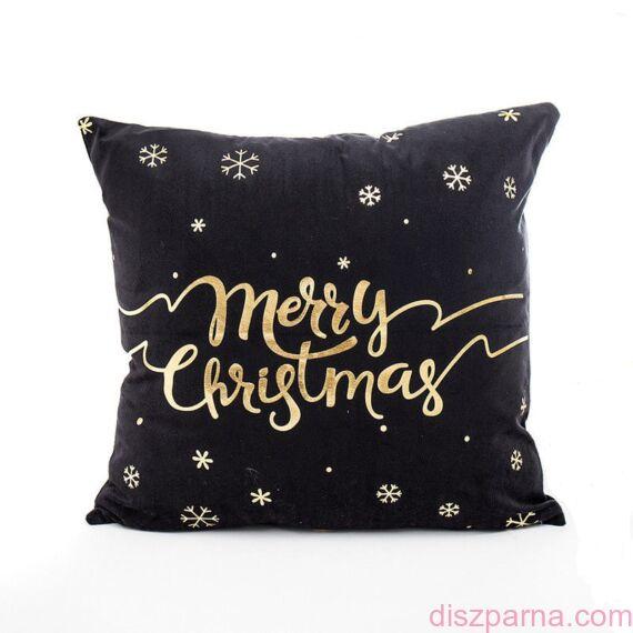 Angel Hópehely Fekete-Arany karácsonyi díszpárna