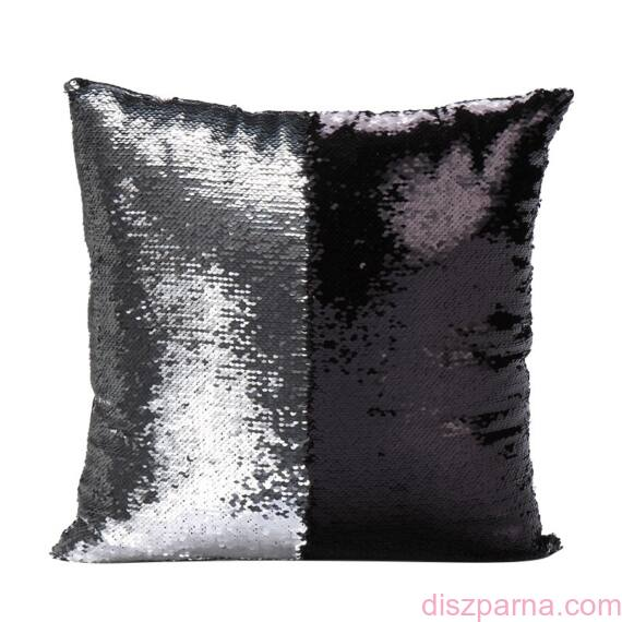 Ariel Ezüst-Fekete sellőpárna (fényes)