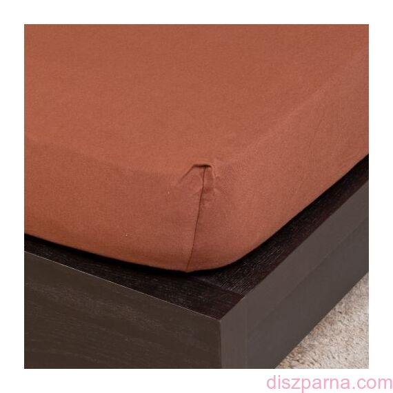 Csokoládé jersey lepedő 200x200 cm