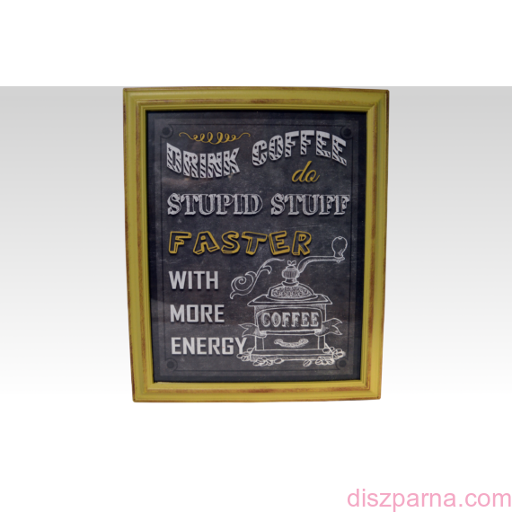 Retro Coffee Sárga falikép