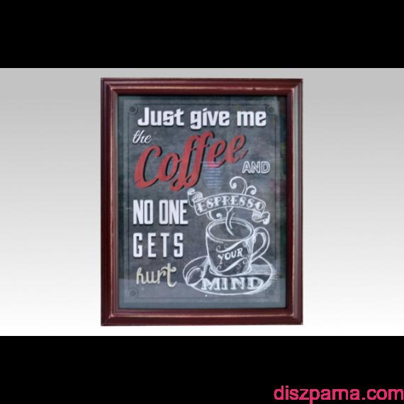 Retro Coffee Vörös falikép