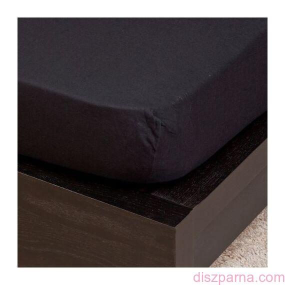 Fekete jersey lepedő 100x200 cm