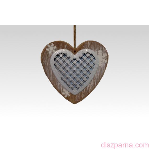 Fémbetétes szív dekoráció