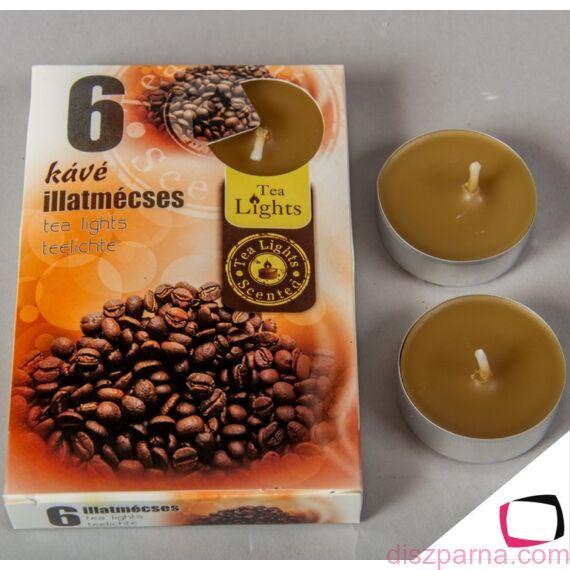 Kávé illatú teamécses 6 db-os